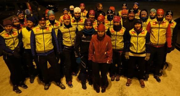 NORTHERN RUNNERS: Vi løper ute i all slags vær, året rundt - og nyter det! Foto: Ulf Isaksen, Northern Runners.